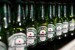 Heineken-Flaschen