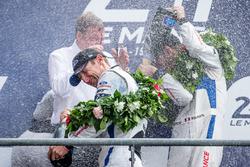 LMGT Pro podium: champagne celebrations