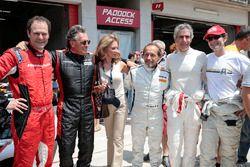 (Da sx a dx) Aldo Costa, Direttore Tecnico Mercedes AMG F1, Gabriele Tredozi, Pierluigi Martini e Paolo Barilla