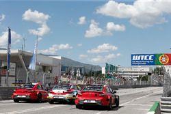Yvan Muller, Citroën World Touring Car Team, Citroën C-Elysée WTCC; Mehdi Bennani, Sébastien Loeb Racing, Citroën C-Elysée WTCC; José María López, Citroën World Touring Car Team, Citroën C-Elysée WTCC