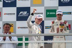 podium, Maximilian Günther, Prema Powerteam Dallara F312 - Mercedes-Benz, Lance Stroll, Prema Powert