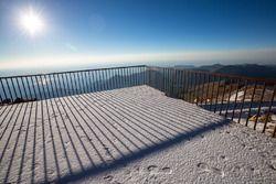 Overnight snow at the summit