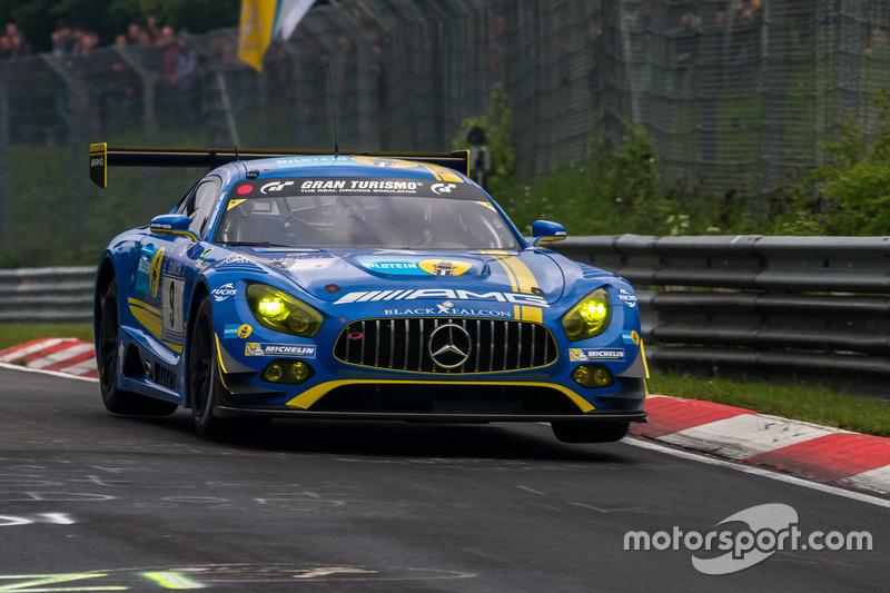 Pole setting #9 AMG-Team Black Falcon, Mercedes-AMG GT3: Hubert Haupt, Yelmer Buurman, Maro Engel, D