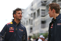 Daniel Ricciardo, Red Bull Racing avec son équipier Daniil Kvyat, Red Bull Racing