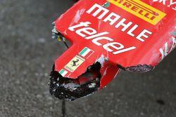 الأضرار التى حصلت لسيارة سيباستيان فيتيل، فيراري