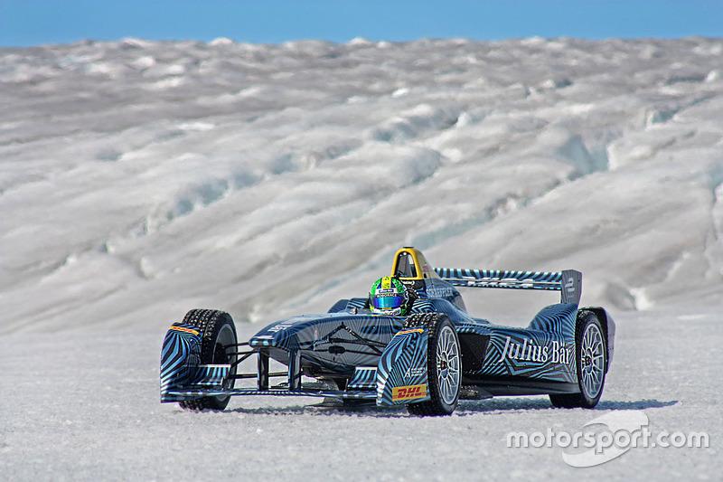 10. Lucas di Grassi drives on the Arctic ice cap