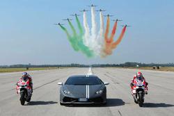 Andrea Dovizioso, Ducati Team, Michele Pirro, Ducati Team et Mirko Bortolotti