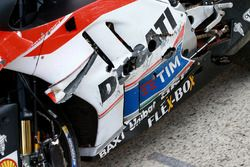 The bike of Andrea Iannone, Ducati Team after falling during qualifying