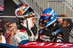 Craig Lowndes, Triple Eight Race Engineering Holden and Scott McLaughlin, Garry Rogers Motorsport Volvo