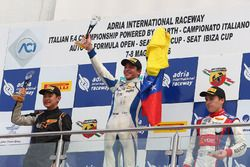 Race 4 podium: winner Mauricio Baiz, Mücke Motorsport, second place Ye Yifei, Mücke Motorsport, third place Marcos Siebert, Jenzer Motorsport