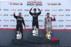 Podium: Sieger Simon Pagenaud, Team Penske, Chevrolet; 2. Will Power, Team Penske, Chevrolet; 3. Car