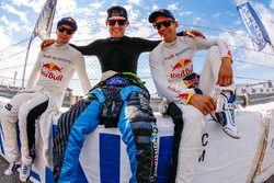 Toomas Heikkinen, EKS RX Audi S1, Andreas Bakkerud, Hoonigan Racing Division Ford, Mattias Ekström, EKS RX Audi S1