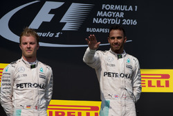 Lewis Hamilton, Mercedes, Nico Rosberg, Mercedes on the podium