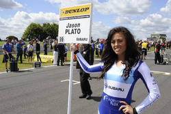 Grid girl of Jason Plato, Silverline Subaru BMR Racing