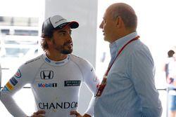 Fernando Alonso, McLaren with Ron Dennis, McLaren Automotive Executive Chairman