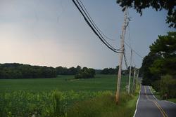 Landschaft in der Nähe des stillgelegten Nazareth Speedway