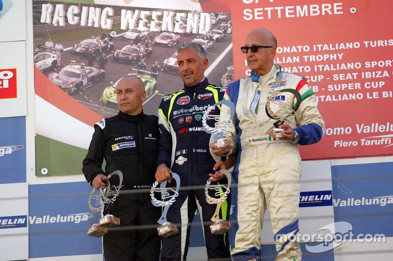 Podio Gara 1, Davide Uboldi (Eurointernational, Ligier JS Evo 2 E CN2 #8), Walter Margelli (Nannini
