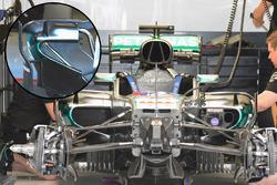 Détails des pontons de la Mercedes AMG F1 Team W07