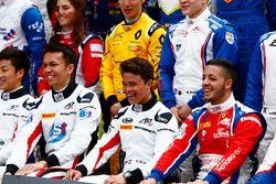 Alexander Albon, ART Grand Prix, Nyck de Vries, ART Grand Prix en Antonio Fuoco, Trident in de groep