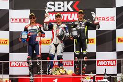 Podium: ganador, Ayrton Badovini, segundo, Zulfahmi Khairuddin, tercero, Gino Rea