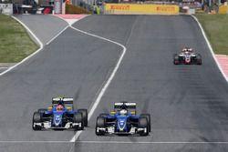 Felipe Nasr, Sauber F1 Team et Marcus Ericsson, Sauber F1 Team