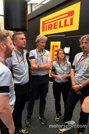 Staff de Pirelli en Spa-Francorchamps