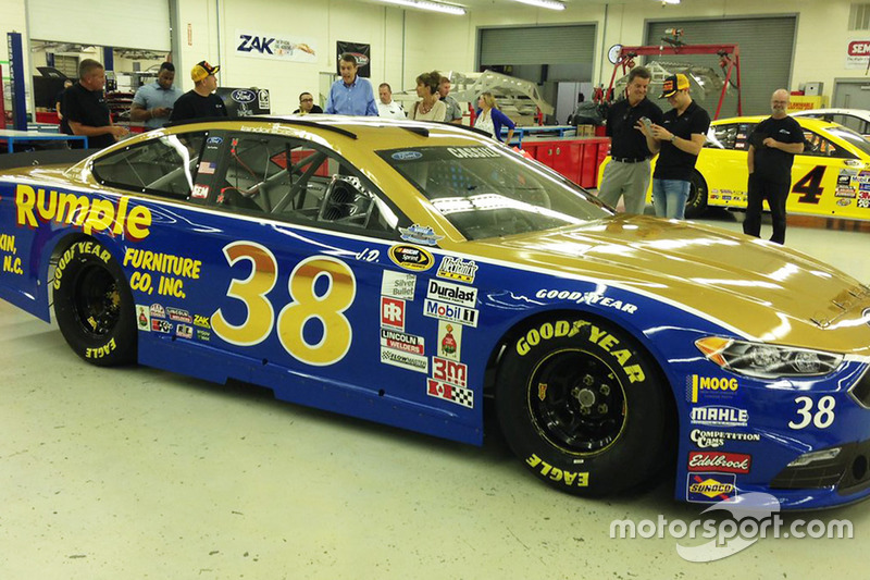 Landon Cassill, Front Row Motorsports Ford throwback scheme