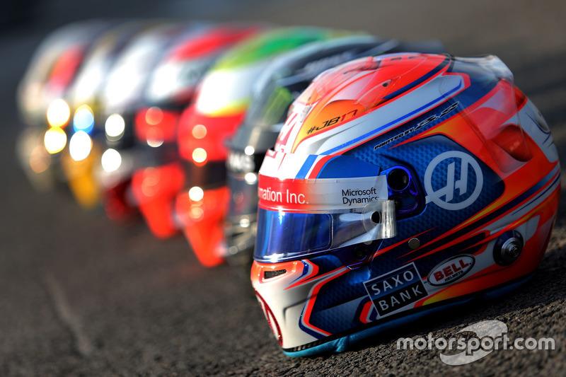 Caschi Bell: Romain Grosjean, Haas F1 Team