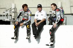 Kenny Roberts, Teambesitzer Proton Team KR; Jeremy McWilliams, Proton Team KR und Nobuatsu Aoki, Pro