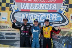 Podium Race winner Wilfied Boucenna, Knauf Racing, second place Nicholas Risitano, Racers Motorsport