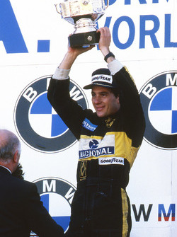 Race winner Ayrton Senna, Lotus