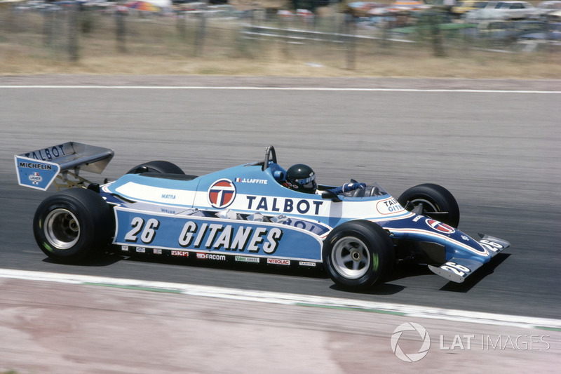 Jacques Laffite: Ligier (1976-1982 y 1985-1986)