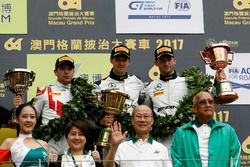 Podium: Race winner Edoardo Mortara, Mercedes-AMG Team Driving Academy, Mercedes - AMG GT3, second p