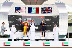 Podium : le vainqueur Dorian Boccolacci, Trident, le deuxième Ryan Tveter, Trident, le troisième Dan Ticktum, DAMS