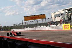 Sebastian Vettel, Ferrari SF70H takes the chequered flag at the end of Qualifying