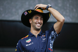 Daniel Ricciardo, Red Bull Racing, on the F1 stage