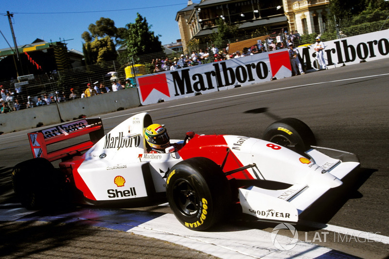 1993 : McLaren MP4/8, à moteur Ford Cosworth