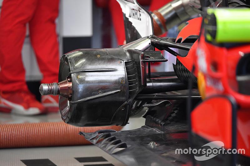 Ferrari SF70H : écrou de roue arrière