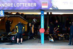 Andre Lotterer, Techeetah, fait un arrêt au stand