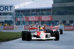 Ayrton Senna, McLaren MP4/5B; Gerhard Berger, McLaren MP4/5B