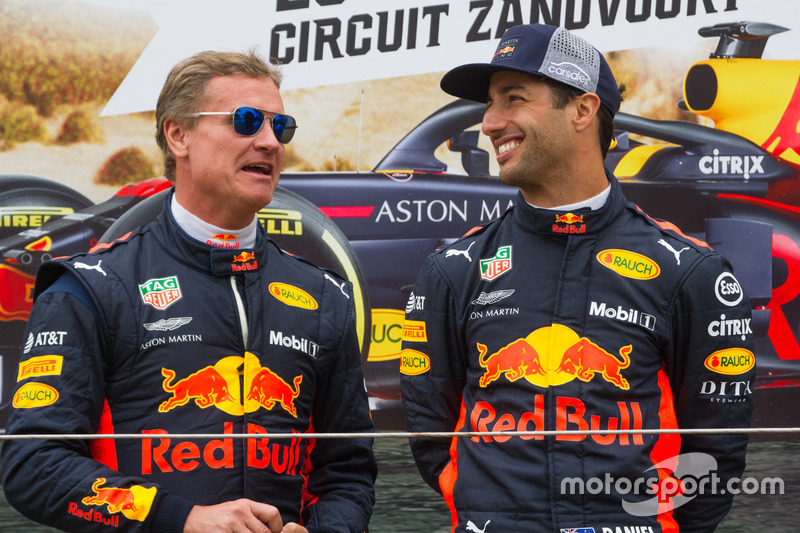 David Coulthard et Daniel Ricciardo lors des Jumbo Racing Days