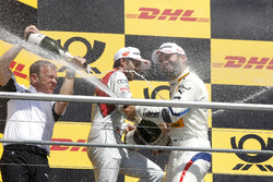 Podium: Stefan Reinhold, Team principal, BMW Team RMG, Timo Glock, BMW Team RMG