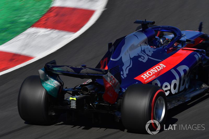 L'aileron arrière de la Pierre Gasly, Scuderia Toro Rosso STR13