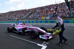 Sergio Perez, Force India VJM11 on the grid