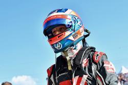 Romain Grosjean, Haas F1 in parc ferme