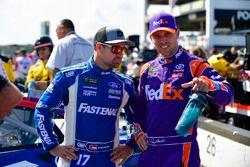 Ricky Stenhouse Jr., Roush Fenway Racing, Ford Fusion Ford, Denny Hamlin, Joe Gibbs Racing, Toyota Camry FedEx Express