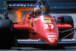 Michele Alboreto, Ferrari en llamas