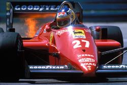 Michele Alboreto, Ferrari on fire