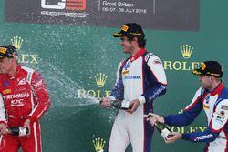 Podio: il vincitore della gara Pedro Piquet, Trident, il secondo classificato Giuliano Alesi, Trident, il terzo classificato Ryan Tveter, Trident