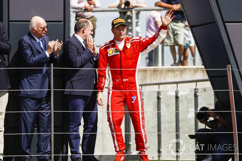 Podium: Kimi Raikkonen, Ferrari